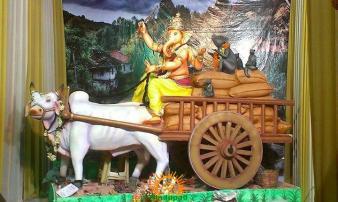 Durga Seva Sangh Ganesh Mandal in Osman Shahi Gowliguda Chaman 1