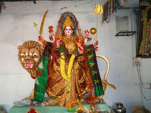Gayatri Alankaram at Indraprastha Colony Temple 2