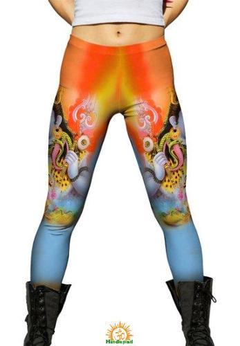 Amazon.com's leggings with hindu gods
