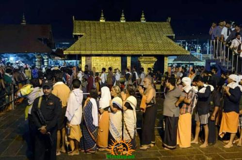 Black dress for Ayyappa devotees