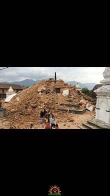 Kalmochan Temple Now earthquake