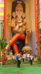 2015 biggest Ganesh idol at Vijayawada