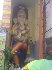 63 feet Ganapathi idol Vijayawada 2015