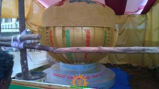 8 Tonnes Laddu for Gajuwaka Ganesha 2015 1