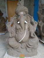 Clay Ganesha idol 1