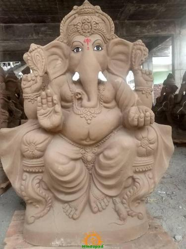 Clay Ganesha idol 3