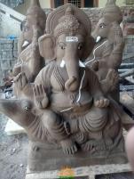 Clay Ganesha idol 4