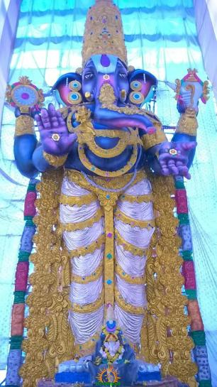 VISWA 82 feet Ganesh idol 2015