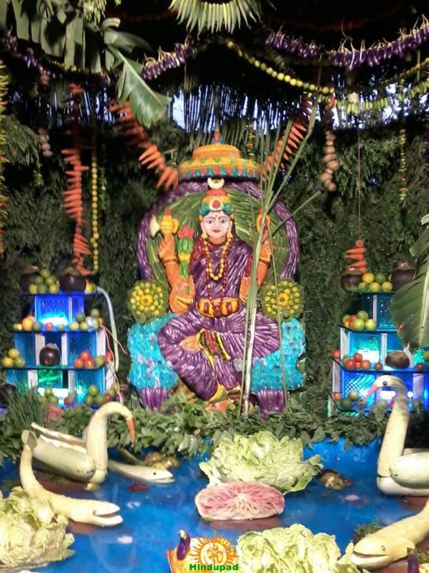 Kanakadurga Ammavaru as Shakambari Mata Vijayawada