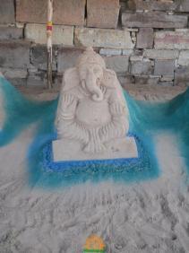 Ganesh Sand Sculpture Krishna Pushkaralu