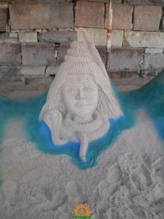 Shiva Sand Sculpture Krishna Pushkaralu