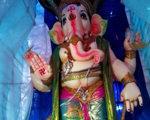 108-feet Ganesh at Vizag MVP Colony 10
