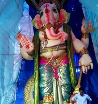 108-feet Ganesh at Vizag MVP Colony 12