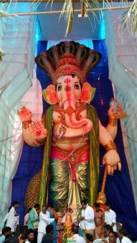 108-feet Ganesh at Vizag MVP Colony 5