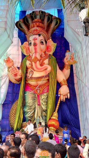 108-feet Ganesh at Vizag MVP Colony 8