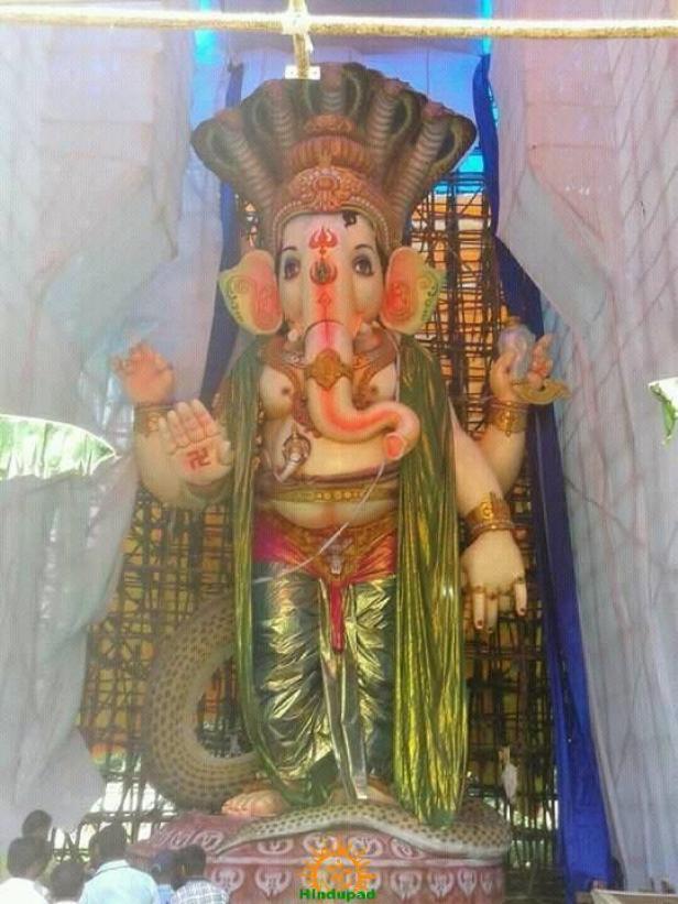 108-feet Ganesh at Vizag MVP Colony