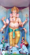 72-feet Ganapathi idol 2016 11 at Vijayawada Tallest