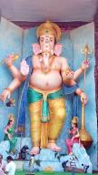 72-feet Ganapathi idol 2016 11 at Vijayawada Tallest