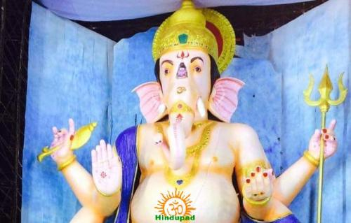 72-feet Ganapathi idol 2016 17 at Vijayawada Tallest