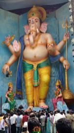 72-feet Ganapathi idol 2016 2 Tallest