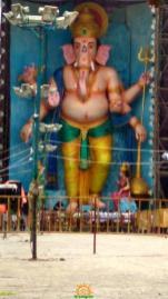 72-feet Ganapathi idol 2016 4 at Vijayawada Tallest