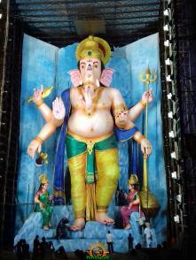 72-feet Ganapathi idol 2016 5 at Vijayawada Tallest