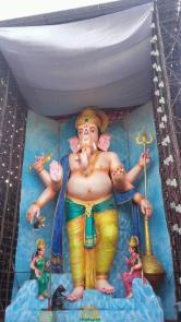 72-feet Ganapathi idol 2016 6 at Vijayawada Tallest