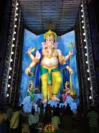72-feet Ganapathi idol 2016 8 at Vijayawada Tallest