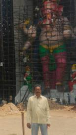 72 feet biggest ganapathi at Dundi Ganesh utsava samithi Vijayawada 2016 no-watermark