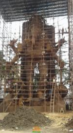 72 feet eco friendly clay ganesha at Vijayawada 2016
