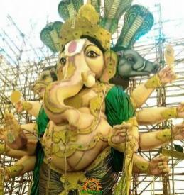 78-feet Ganesh idol Gajuwaka Vizag image 6