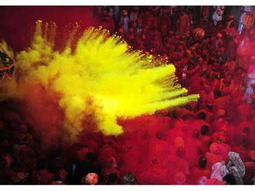 Holi at Dwarkadhish Temple Mathura no-watermark