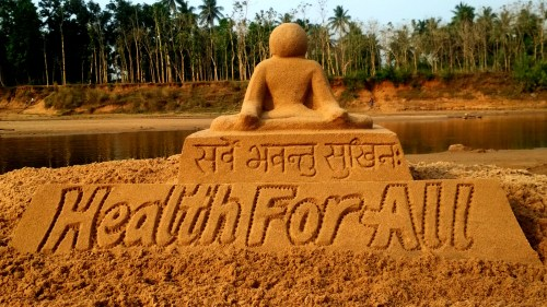 World Health Day 2018 Sand Sculpture 2 no-watermark
