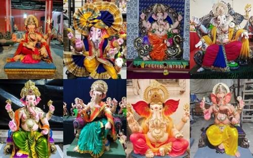 Mumbai Ganesh Mandals 2020 Collage