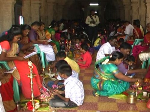 Pada Puja to Parents by Children