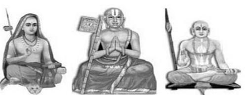 Shankaracharya Ramanuja Madhwacharya