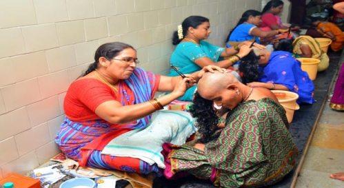 Tonsure in Tirumala Temple by women barbers