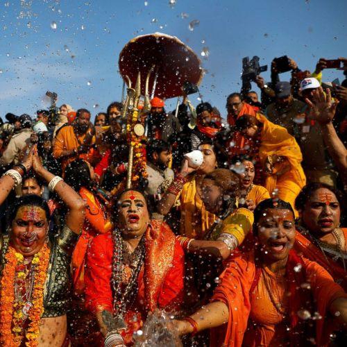 Transgenders celebrating in Kumbh Mela