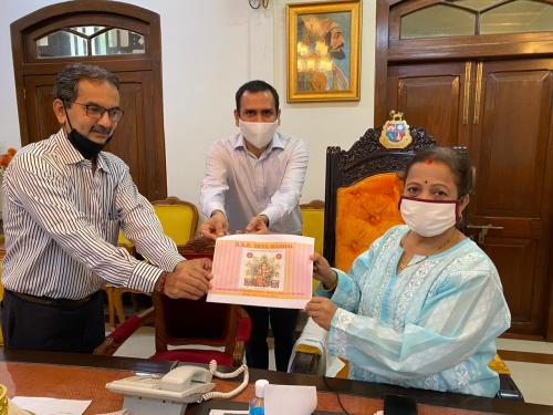 Trustees of GSB Seva Mandal met with Mayor of Mumbai 1