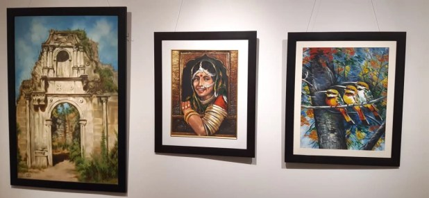 ouchika organized first group exhibition 2020 Impression 1 for differently-abled children