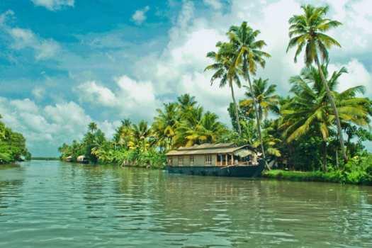 Słonce, ciepło, Kerala, Alapuzzha, Indie