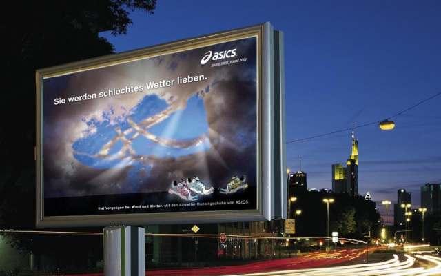 Plakat in der Stadt Citylight