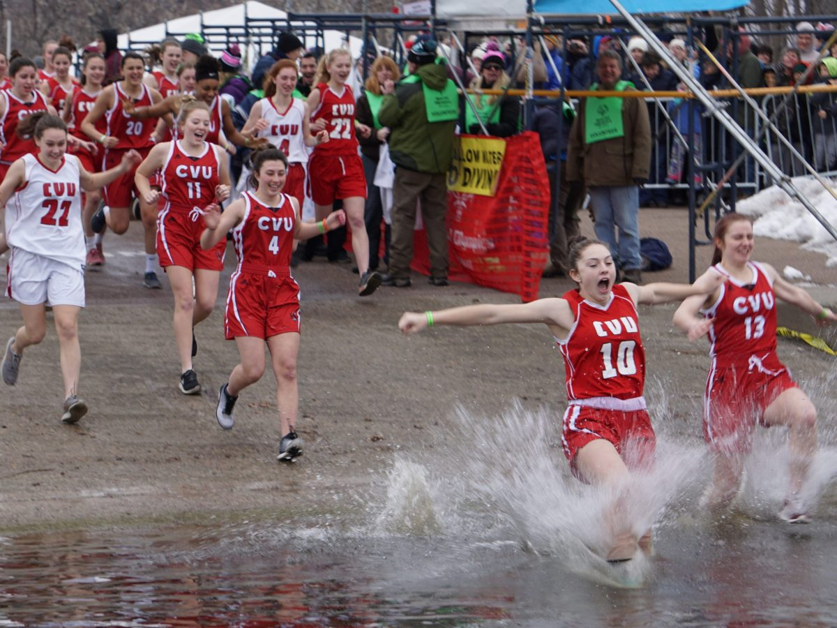 CVU Redhawks lead the pack at the Special Olympics Penguin Plunge