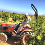 Shaykh Mehmet auf Traktor