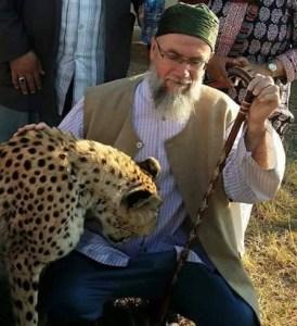 Scheich Muhammad mit Leopard