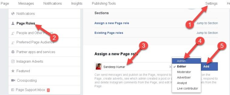 Facebook Page Admin