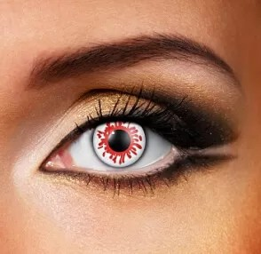 Eye Fusion One Day use. BLOOD SPLAT Coloured Eye Contact Lenses