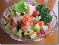 夏野菜のさといも麺1