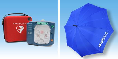 AED完備&レンタル傘完備
