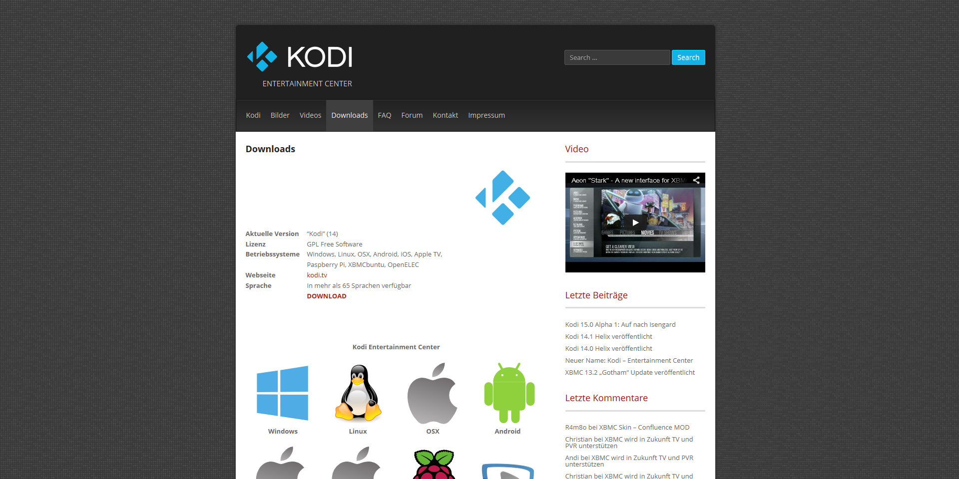 KODI-Downloads